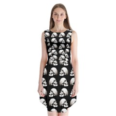 Halloween Skull Pattern Sleeveless Chiffon Dress