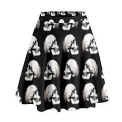 Halloween Skull Pattern High Waist Skirt