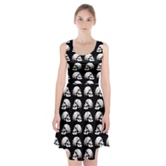 Halloween Skull Pattern Racerback Midi Dress
