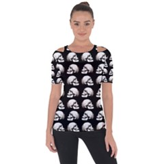 Halloween Skull Pattern Short Sleeve Top