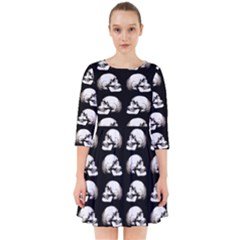 Halloween Skull Pattern Smock Dress