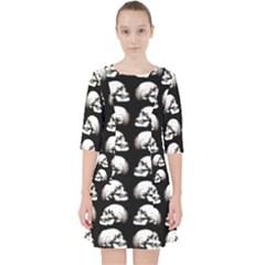 Halloween Skull Pattern Pocket Dress