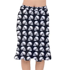 Halloween Skull Pattern Mermaid Skirt