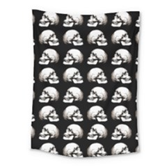 Halloween Skull Pattern Medium Tapestry