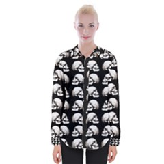 Halloween Skull Pattern Womens Long Sleeve Shirt