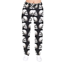Halloween Skull Pattern Drawstring Pants
