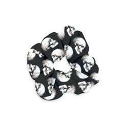 Halloween Skull Pattern Velvet Scrunchie