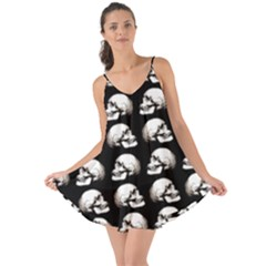 Halloween Skull Pattern Love The Sun Cover Up