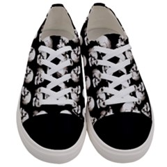 Halloween Skull Pattern Women s Low Top Canvas Sneakers