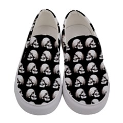 Halloween Skull Pattern Women s Canvas Slip Ons