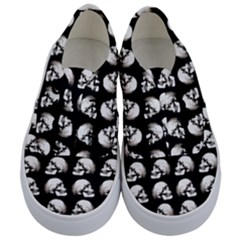 Halloween Skull Pattern Kids  Classic Low Top Sneakers