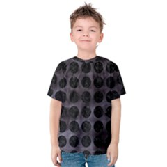 Circles1 Black Marble & Black Watercolor (r) Kids  Cotton Tee