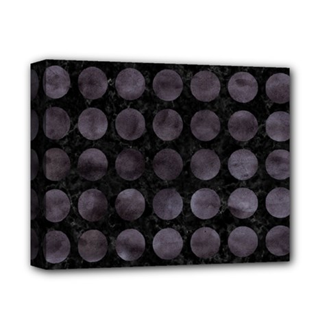 Circles1 Black Marble & Black Watercolor Deluxe Canvas 14  X 11