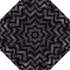 Chevron9 Black Marble & Black Watercolor (r) Hook Handle Umbrellas (small)