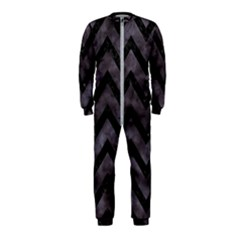 Chevron9 Black Marble & Black Watercolor (r) Onepiece Jumpsuit (kids)