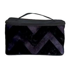 Chevron9 Black Marble & Black Watercolor Cosmetic Storage Case