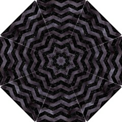 Chevron3 Black Marble & Black Watercolor Hook Handle Umbrellas (small)