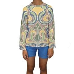 Art Nouveau Kids  Long Sleeve Swimwear