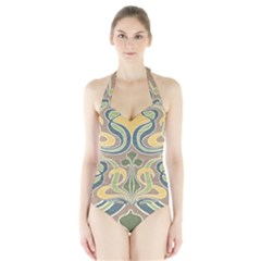 Art Nouveau Halter Swimsuit