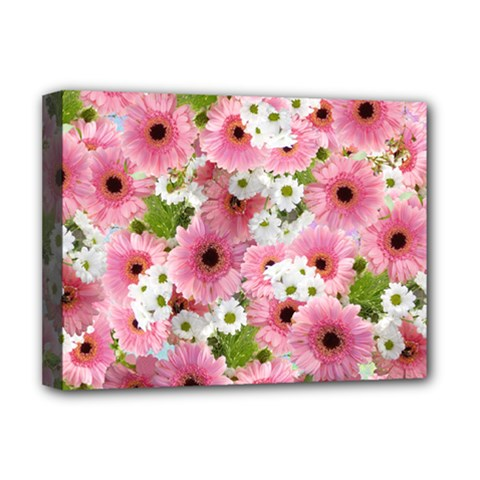 Pink Flower Bg 2 Deluxe Canvas 16  X 12