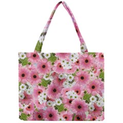 Pink Flower Bg 2 Mini Tote Bag