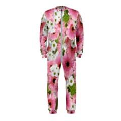 Pink Flower Bg 2 Onepiece Jumpsuit (kids)