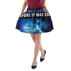 Black Star Trek Tee A Line Pocket Skirt