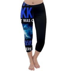 Black Star Trek Tee Capri Winter Leggings