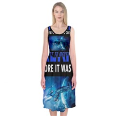 Black Star Trek Tee Midi Sleeveless Dress