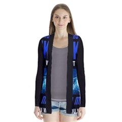 Black Star Trek Tee Drape Collar Cardigan