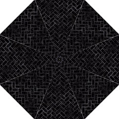 Brick2 Black Marble & Black Watercolor Straight Umbrellas