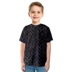 Brick2 Black Marble & Black Watercolor Kids  Sport Mesh Tee