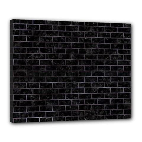 Brick1 Black Marble & Black Watercolor Canvas 20  X 16