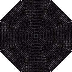 Brick1 Black Marble & Black Watercolor Hook Handle Umbrellas (small)