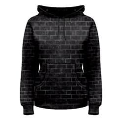 Brick1 Black Marble & Black Watercolor Women s Pullover Hoodie