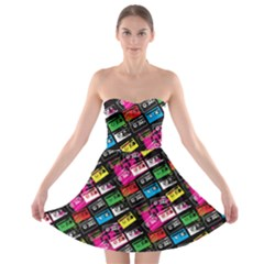 Pattern Colorfulcassettes Icreate Strapless Bra Top Dress