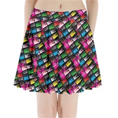 Pattern Colorfulcassettes Icreate Pleated Mini Skirt