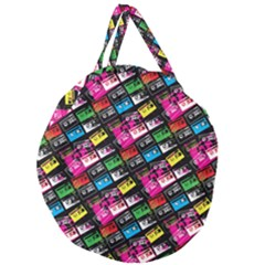 Pattern Colorfulcassettes Icreate Giant Round Zipper Tote