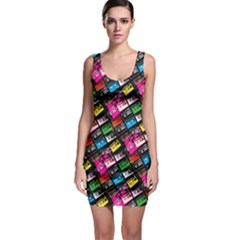 Pattern Colorfulcassettes Icreate Bodycon Dress