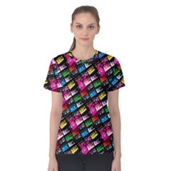 Pattern Colorfulcassettes Icreate Women s Cotton Tee