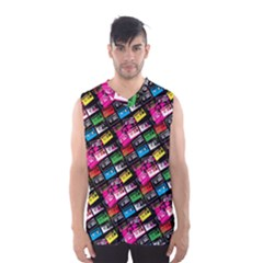 Pattern Colorfulcassettes Icreate Men s Basketball Tank Top