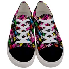 Pattern Colorfulcassettes Icreate Women s Low Top Canvas Sneakers