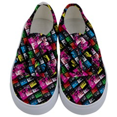 Pattern Colorfulcassettes Icreate Kids  Classic Low Top Sneakers