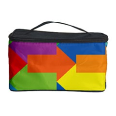 Arrow Rainbow Orange Blue Yellow Red Purple Green Cosmetic Storage Case