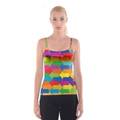 Arrow Rainbow Orange Blue Yellow Red Purple Green Spaghetti Strap Top