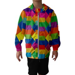 Arrow Rainbow Orange Blue Yellow Red Purple Green Hooded Wind Breaker (kids)