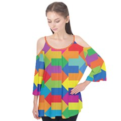 Arrow Rainbow Orange Blue Yellow Red Purple Green Flutter Tees