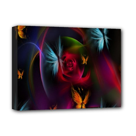 Beautiful Butterflies Rainbow Space Deluxe Canvas 16  X 12
