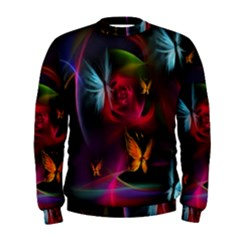 Beautiful Butterflies Rainbow Space Men s Sweatshirt