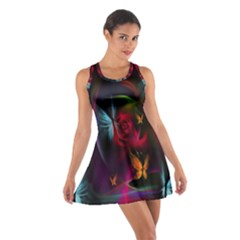 Beautiful Butterflies Rainbow Space Cotton Racerback Dress